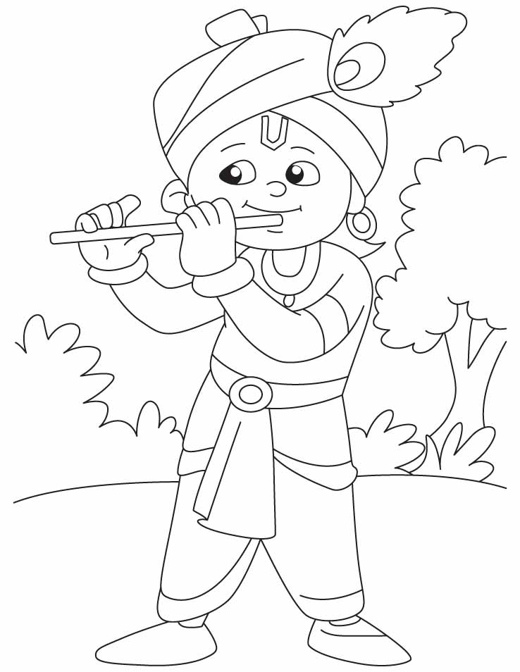 coloring pages of krishna krishna colouring activity mystartupkitchen